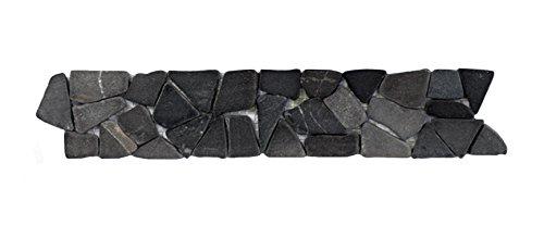 BO-557 Marmor Bordüre Bruchstein Mosaikfliesen Naturstein Bad Fliesen Lager Verkauf Stein-Mosaik Herne NRW