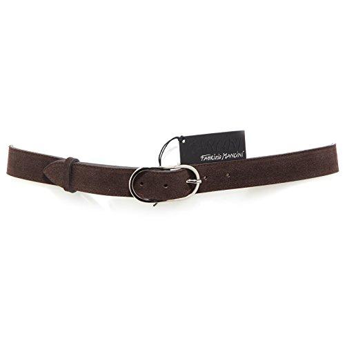 8526R cintura uomo FABRIZIO MANCINI suede marrone brown belt men without box [95 CM]