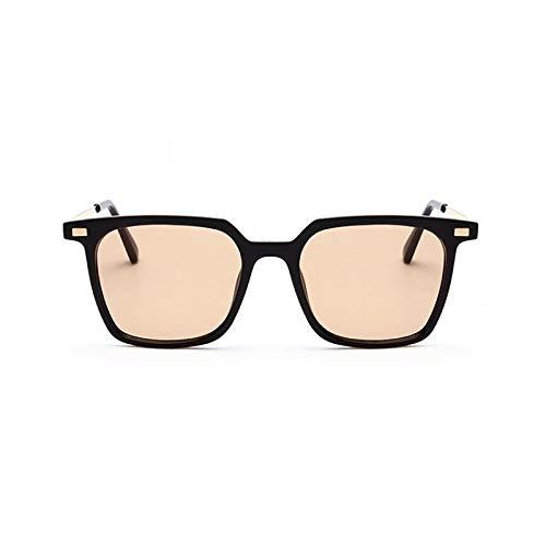 NSYJDSP Retro Quadratische Sonnenbrille Männer Frauen Niet Cat Eye Mode UV400 Vintage Brille 47822 schwarzer Tee