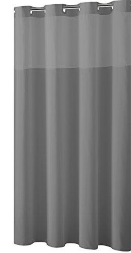 Hookless Duschvorhang Mystery ez-on Stoff Vorhang für die Dusche Grau