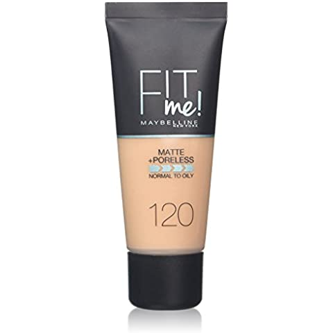 Maybelline Fit Me Foundation 120 Classic Ivory - base de maquillaje (Mujeres, Líquido, Botella, Classic Ivory, Piel normal, Natural)