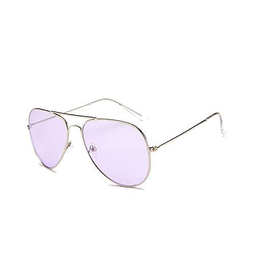 Sport-Sonnenbrillen, Vintage Sonnenbrillen, Clear Pink Sunglasses Women Men Ocean Blue Transparent Sun Glasses Candy Farbe Eyewear Pilot Yellow Lens Glasses Green W738 C5 Purple Lens