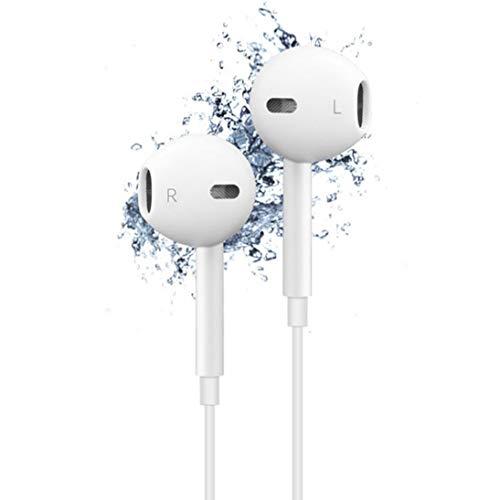 WEIHAN Diseño de Moda Profesional con Caja Auricular Auricular Teléfono con micrófono para teléfono móvil Tablet PC Blanco