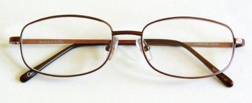 e38ff395ab Magnivision +2.00 TITANIUM Bronze Wire Rim Reading Glasses (05) by Foster  Grant