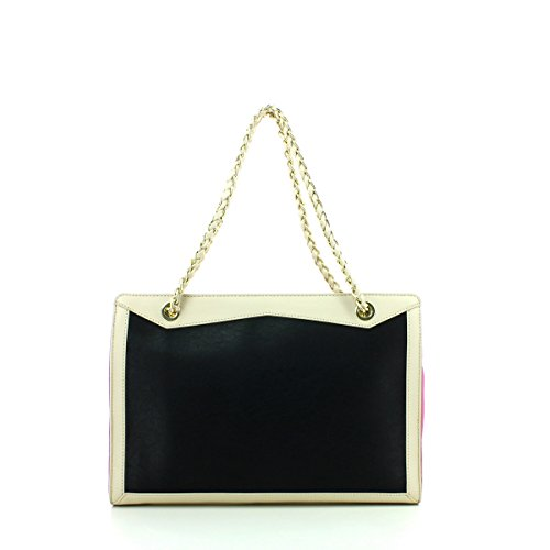Woman Bag Nero/cipria