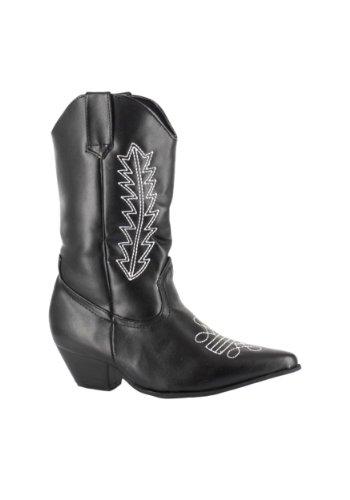 Ellie Shoes Child Black Cowboy Boots X-Small (9-10)