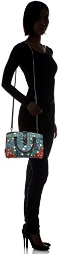 Coach , Damen Henkeltasche Dark Antique Nickel/Teal Yankee Floral Multi