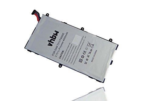 vhbw Li-Polymer Akku 4000mAh (3.7V) für Tablet, Pad, Netbook Samsung Galaxy Tab 3 Kids, Tab 3 7.0, SM-T210, SM-T2105, SM-T210R, SM-T211 wie T4000E.