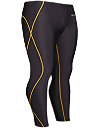 emFraa Homme Femme Running Leggings Compression Base layer Black Pants S ~ XXL