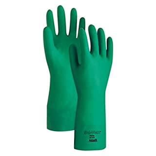 Ansell 100016 Sol-Vex 37-175 Unsupported Nitrile Flock Lined Gloves, 0.17