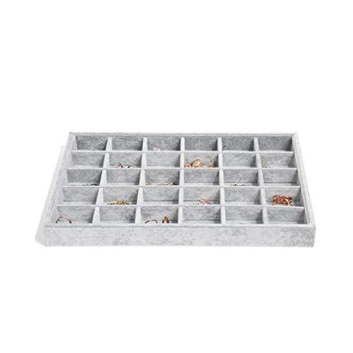Samt Schmuck Tabletts, Schmuck Ring Display Halter, Armband Ring Ohrring Jade Anhänger Halskette Display Box, Schmuck Aufbewahrungsbox Organizer Container Fall - 35x24x3cm