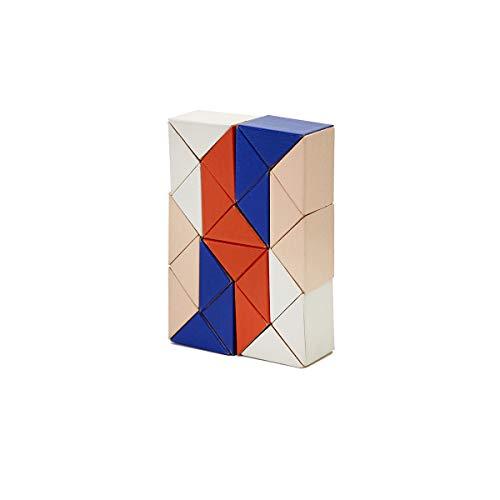 Stockholm Block (SNAKE BLOCKS blau & pink | 3D HOLZ-PUZZLE | Clara v. Zweigbergk | Areaware)