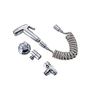 Sivoss Bidé Set para Bañera/Ducha/Lavabo: Manguera FLEXI, Bidet, 1 Convertidor para conexión de bañera y uno para el lavabo, Bidet Soporte (succión y tornillo en uno)