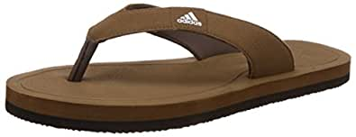 adidas Men's Beach Syn M Brown Leather Flip Flops Thong Sandals - 11 UK