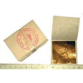 Lote hoja de oro de 24 quilates en la base, 100% autentico, 20 hojas, 45 x 45 mm