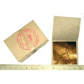 Feuille d'or 24 carats 100% véritable 100 feuilles 45mm X 45 mm