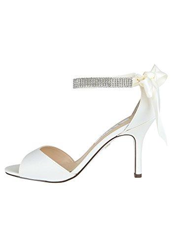 Nina Shoes Nina Shoes Damen High-Heel Sandalette Vinnie Gel-Polster Ivory 36