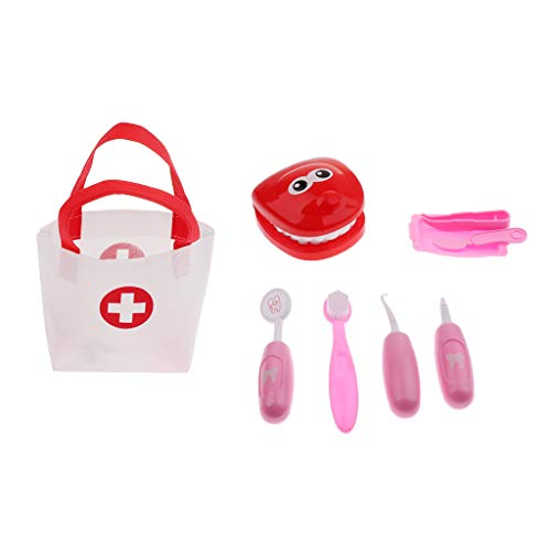 P PRETTYIA Kinder spielen Rollenspiel Arzt Medical Set Spielzeug Tragetasche für Kleinkinder - Rosa