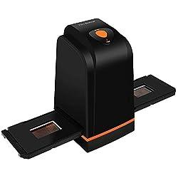 Scanner de Diapositives et Négatifs 35 mm Haute résolution convertit Les Diapositives et Films négatifs en Photos numériques, Prend en Charge Windows XP/Vista / 7/8/10/ Mac