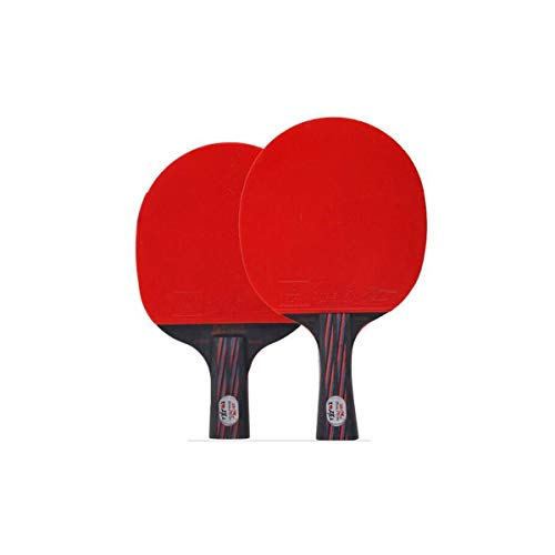 CHUJIAN Tischtennisschläger, Black Red Carbon King Tischtennisschläger, Carbon Tischtennisschläger, Pen-Hold, Horizontal Shot (Edition : B)