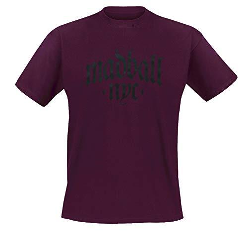 Madball - Simple Arch T-Shirt, Bordeaux, Grösse L