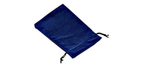 Moritzen-Verpackungen 5 Stück XXL Samtbeutel BANGKOK VI dunkelblau 12,5 x 16 cm - Beutel aus Samt (Samtbeutel Großer)