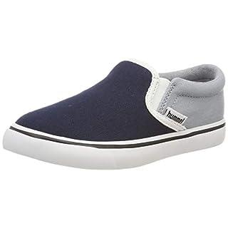 hummel Unisex-Kinder Slip-ON JR Slip On Sneaker, Blau (Arona 7014), 35 EU