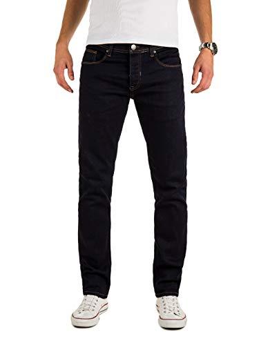 WOTEGA Herren Jeans Alistar Slim fit - Denim Hose Männer Jeanshose Stretch - Used Look, Blau (Sky Captain 193922), W31/L32 (Männer Sky Jeans)