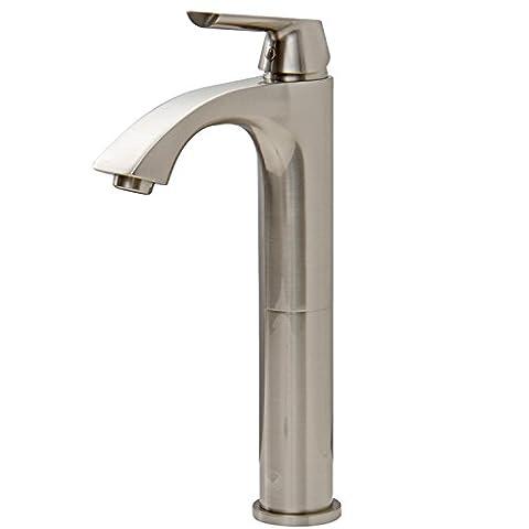 VIGO Linus Single Lever Vessel Bathroom Faucet, Brushed Nickel