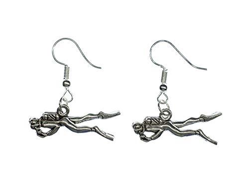 Divers orecchini Miniblings scafandro attrezzatura per l\'immersione subacquea