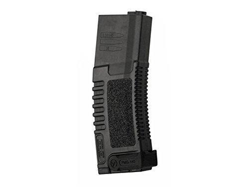 Ares Amoeba Softair / Airsoft MidCap Magazin (140 BBs), mit ausklappbarem Magpull - schwarz -