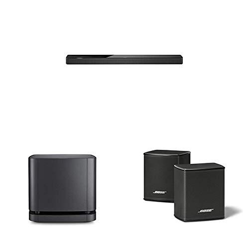 Bose Soundbar 700 Barre de son avec Alexa d'Amazon intégrée - Noir + Module de basses 500 Noir + Enceintes Noir