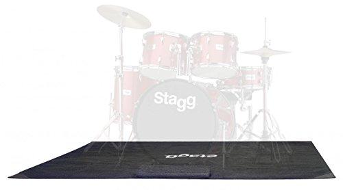 Stagg SCADRU1815 Lite Drum-Teppich aus Polyester, mit Tragetasche
