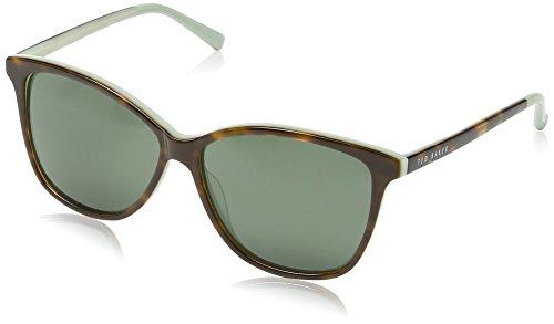 Ted Baker Damen TB1356 521 Dakota Groß Sonnenbrille, Tort/Mint/Grey Lens