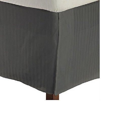 British Wahl Leinen Ägyptische Baumwolle 300-thread-count Satin., Dark Grey Stripe, Euro Ikea King
