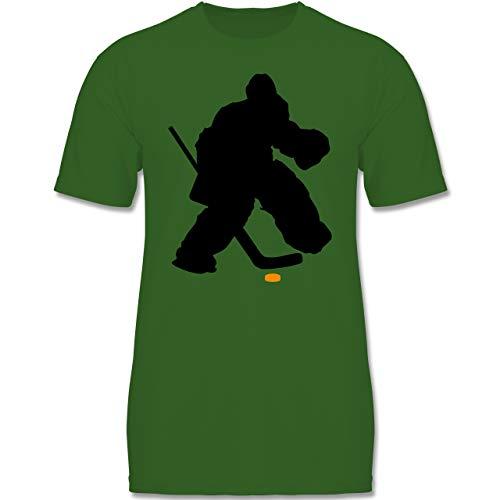 Sport Kind - Eishockeytorwart Towart Eishockey - 152-164 (12-14 Jahre) - Grün - F140K - Jungen T-Shirt