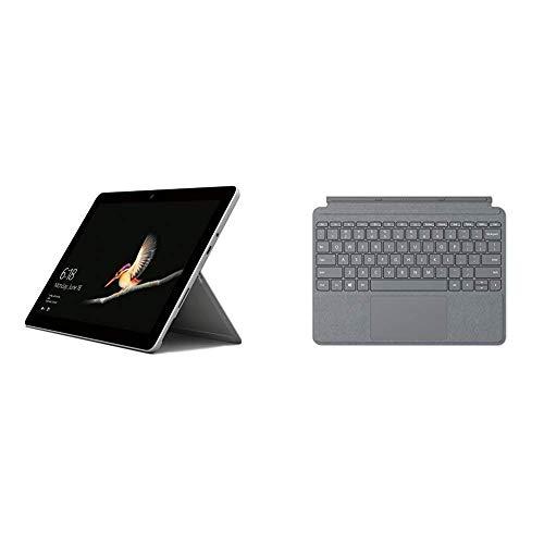 """Microsoft Surface Go - Ordenador portátil 2 en 1 10"""" (LTE, Intel Pentium 4415Y, 8 GB RAM, 128 GB SSD, Windows 10) Color plata + Funda con teclado QWERTY Español gris"""
