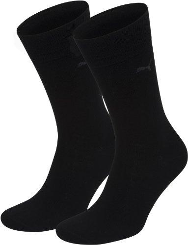 Puma Socks Socken 2er-Pack Baumwolle schwarz Größe 47 - 49