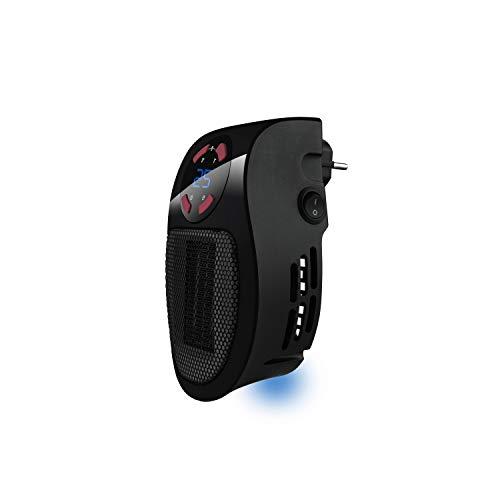 Taurus Tropicano Plug Heater Mini cerámico portátil, Ligero y Compacto, Calefactor sin Cable, termostato...