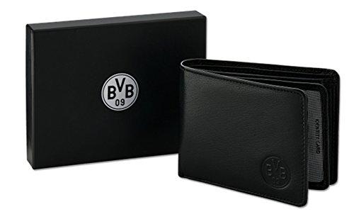 BVB Borussia Dortmund Ledergeldbörse in Geschenkbox