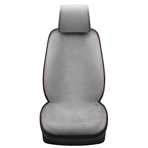 Preisvergleich Produktbild XINGWEI CAR Beheizte Autositze Kissen,  Kurze Plüsch Wärme Heizung,  12V Zigarettenanzünder-Stecker Mit USB-Lade Einzelsitz, Grey
