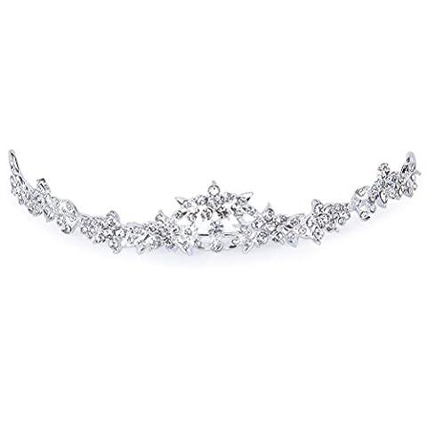 PIXNOR Hochzeit Prom Sparkly Bridal Crown Strass Crystal Dekor Stirnband