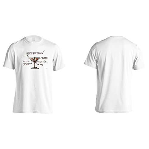 Manhattan Menù Del Bar Ricette Di Cocktail Uomo T-shirt uu97m White