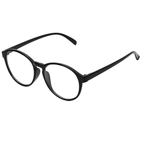 805fe9eace Forepin® Montura para Gafas de Vista Mujeres y Hombre Retro Redonda Vintage  Visión Clara Glasses
