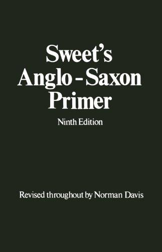 Sweet's Anglo-Saxon Primer (División Academic)