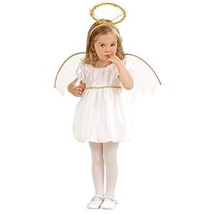 WIDMANN 49339 - Disfraz de ángeles para niños, multicolor, 104 cm / 2 - 3 años