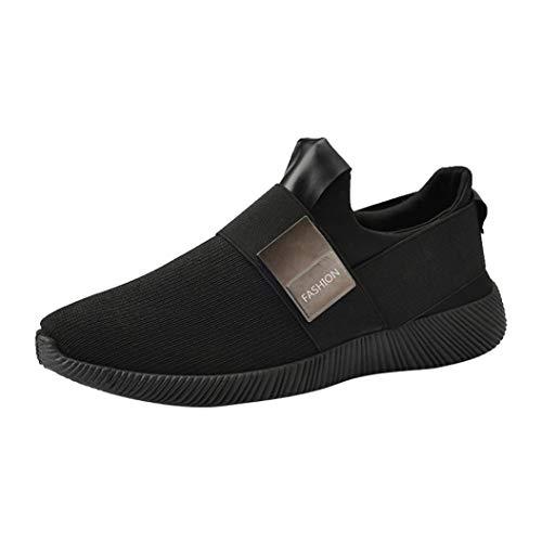 WWricotta Zapatillas de Correr Hombre Originales Casual Moda Cómodas Calzado para Deporte Zapatos con Cordones Bambas de Running Deportivas Zapatos de Gimnasia