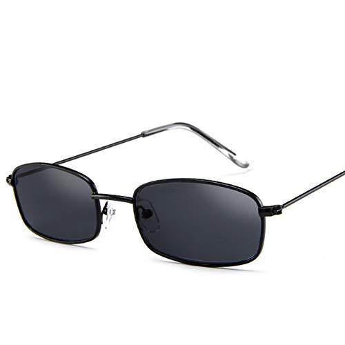 CCGSDJ Vintage Sonnenbrillen Damen Herren Rechteck Brillen Kleine Retro Shades Gelb Rosa Sonnenbrille-Frauen