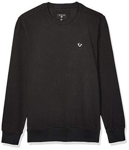 True Religion Herren Crewneck Sweatshirt, schwarz, XX-Large