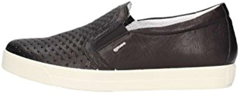 IGI&Co Zapatillas 1147300 Antideslizantes EN Mocasines Zapatos Planos Mujer EN Piel Negra